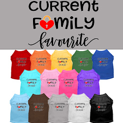 Family Favorite Screen Print Dog Shirt