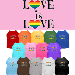 Love is Love Screen Print Dog Shirt