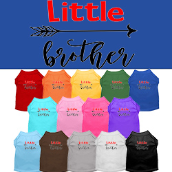 Little Brother Screen Print Dog Shirt