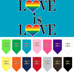 Love is Love Screen Print Bandana