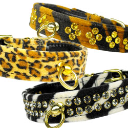 Animal Print Crystal Jewelry Set Collars