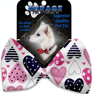 Mixed Hearts Pet Bow Tie