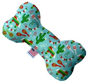 Turquoise Fiesta 6 inch Stuffing Free Bone Dog Toy