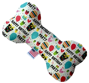 Happy Birthday 6 inch Stuffing Free Bone Dog Toy