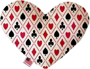 Deck of Cards 6 inch Stuffing Free Heart Dog Toy
