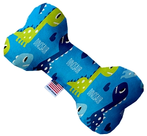 Blue Dinosaurs 6 inch Stuffing Free Bone Dog Toy