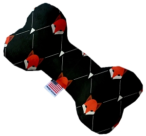 Fox Plaid 6 inch Stuffing Free Bone Dog Toy