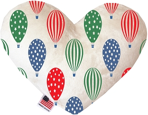 Hot Air Balloons 6 inch Stuffing Free Heart Dog Toy