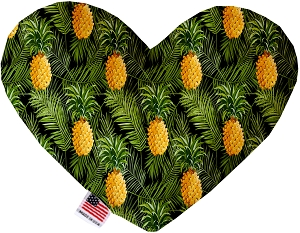Pineapples in Paradise 8 Inch Heart Dog Toy