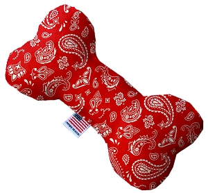 Red Western 8 Inch Bone Dog Toy