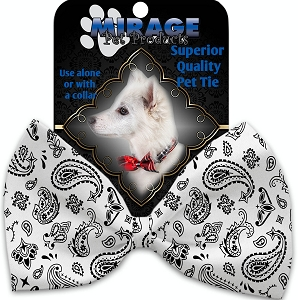 White Western Pet Bow Tie
