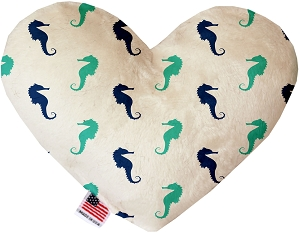 Seahorses 8 Inch Heart Dog Toy