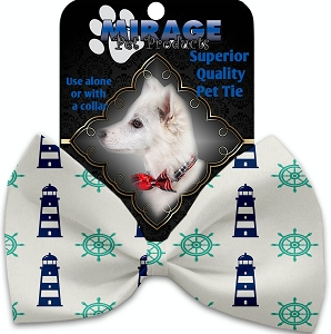 Lighthouses Pet Bow Tie