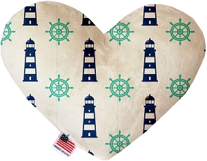 Lighthouses 8 Inch Heart Dog Toy