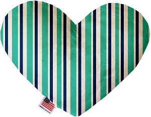 Aquatic Stripes 8 Inch Heart Dog Toy