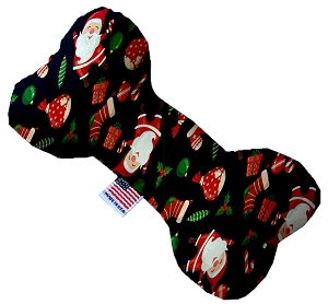 Santa Fun 10 Inch Stuffing FreeBone Dog Toy