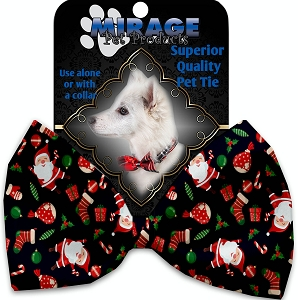 Santa Fun Pet Bow Tie Collar Accessory with Velcro