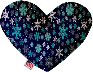 Snowflake Blues 8 Inch Stuffing FreeHeart Dog Toy