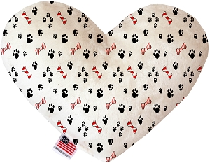 Sweet Paws 6 inch Stuffing Free Heart Dog Toy