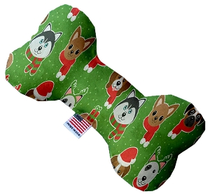 Christmas Dogs 6 inch Stuffing Free Bone Dog Toy