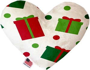 All the Presents! 6 inch Stuffing Free Heart Dog Toy