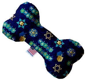 Chanukah Bliss 6 inch Stuffing Free Bone Dog Toy