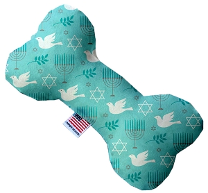 Peace and Hanukkah 6 inch Stuffing Free Bone Dog Toy