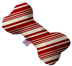 Classic Candy Cane Stripes 10 Inch Bone Dog Toy