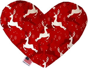Dancing Reindeer 6 Inch Heart Dog Toy