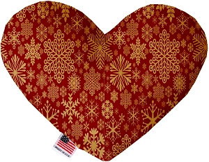 Red Snowflakes 8 Inch Heart Dog Toy