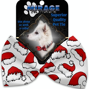 Santa Hats Pet Bow Tie