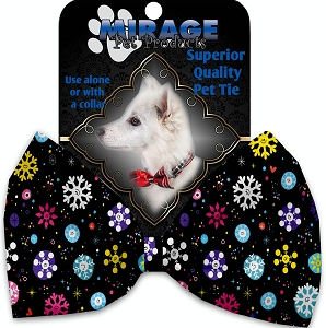 Smily Snowflakes Pet Bow Tie