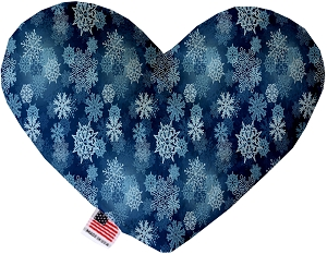 Winter Wonderland 8 Inch Heart Dog Toy