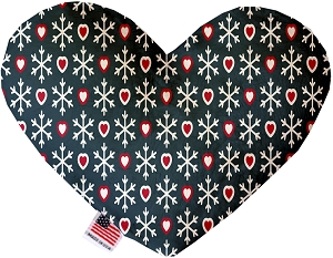 Snowflakes and Hearts 6 Inch Heart Dog Toy