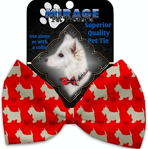 Christmas Westies Pet Bow Tie