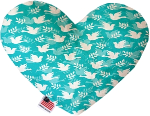 Hope and Peace 8 Inch Heart Dog Toy