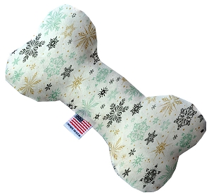 Vintage Snowflakes 10 Inch Bone Dog Toy