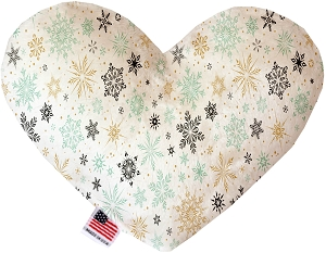Vintage Snowflakes 6 Inch Heart Dog Toy