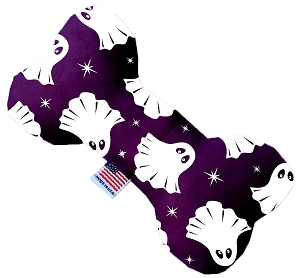 Ghosts on Purple 8 inch Stuffing Free Bone Dog Toy