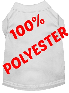 Polyster Pet Shirt White XXXL