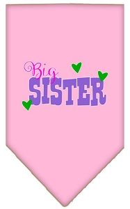 Big Sister Screen Print Bandana Light Pink Large