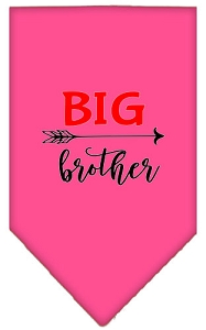 Big Brother Screen Print Bandana Bright Pink Small