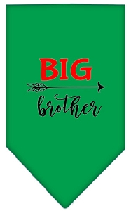 Big Brother Screen Print Bandana Emerald Green Small