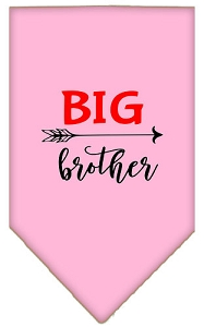 Big Brother Screen Print Bandana Light Pink Small