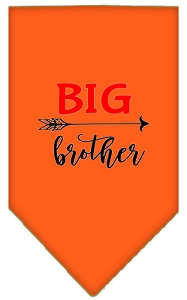 Big Brother Screen Print Bandana Orange Large