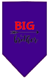 Big Brother Screen Print Bandana Purple Large