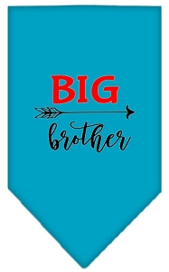 Big Brother Screen Print Bandana Turquoise Large