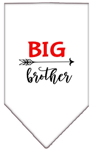 Big Brother Screen Print Bandana White Large