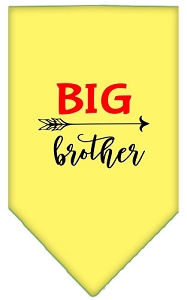 Big Brother Screen Print Bandana Yellow Large
