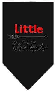 Little Brother Screen Print Bandana Black Small